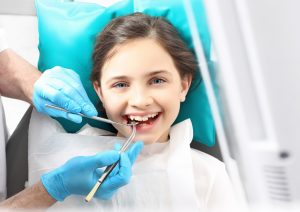 Child on a dental check up