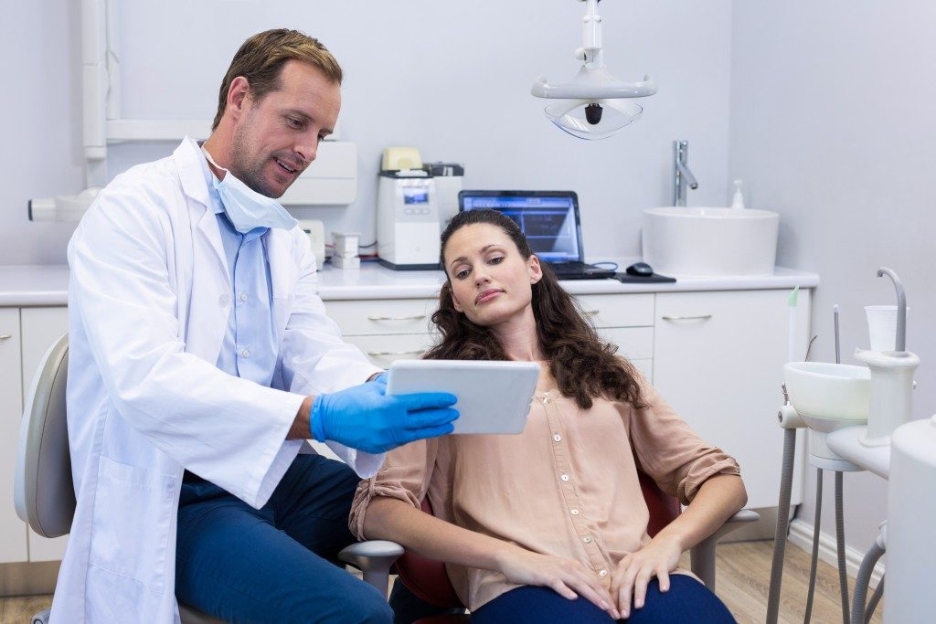 woman having dental consultation