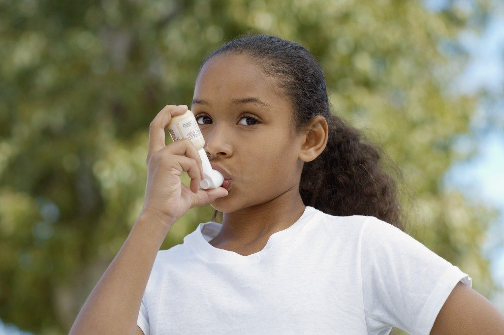 asthmatic child