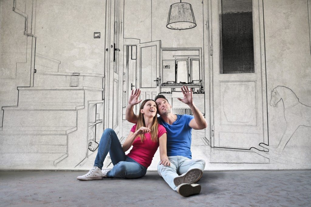 Married couple visualizing their dream home