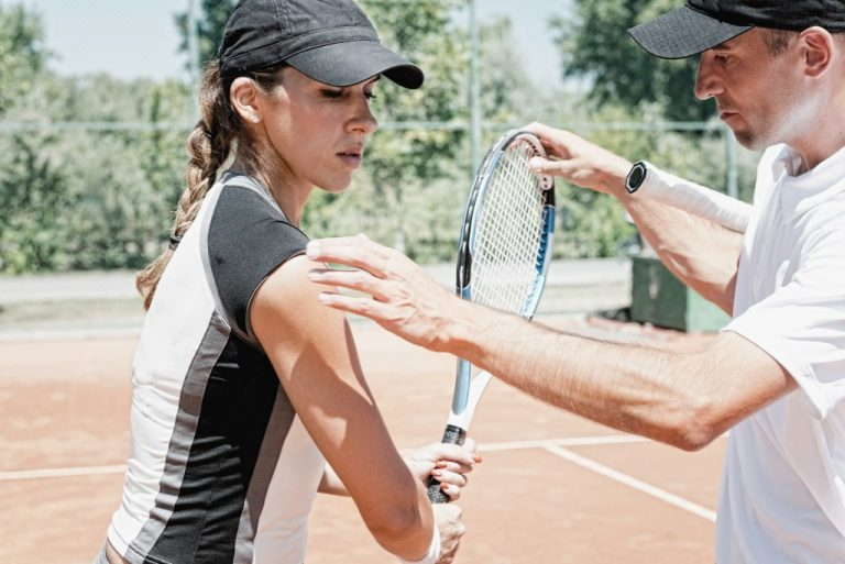 tennis player and trainer
