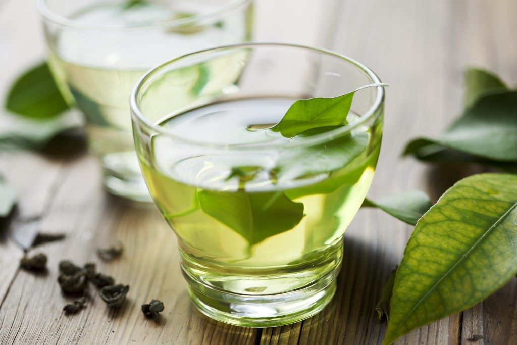 green tea in a small glass