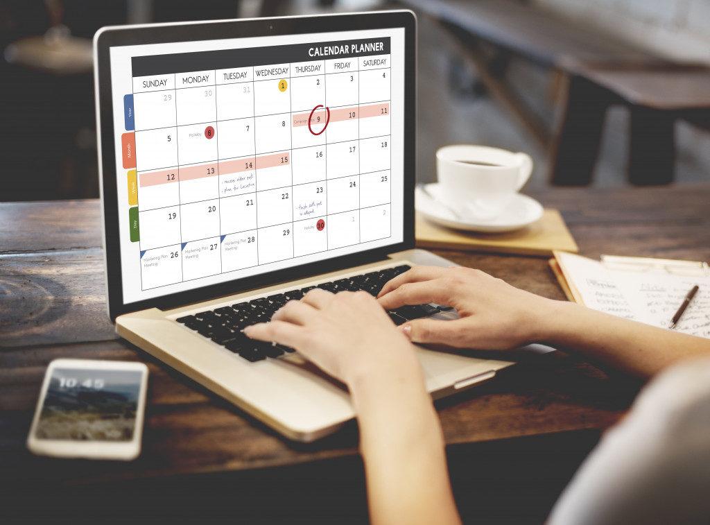 scheduling in calendar