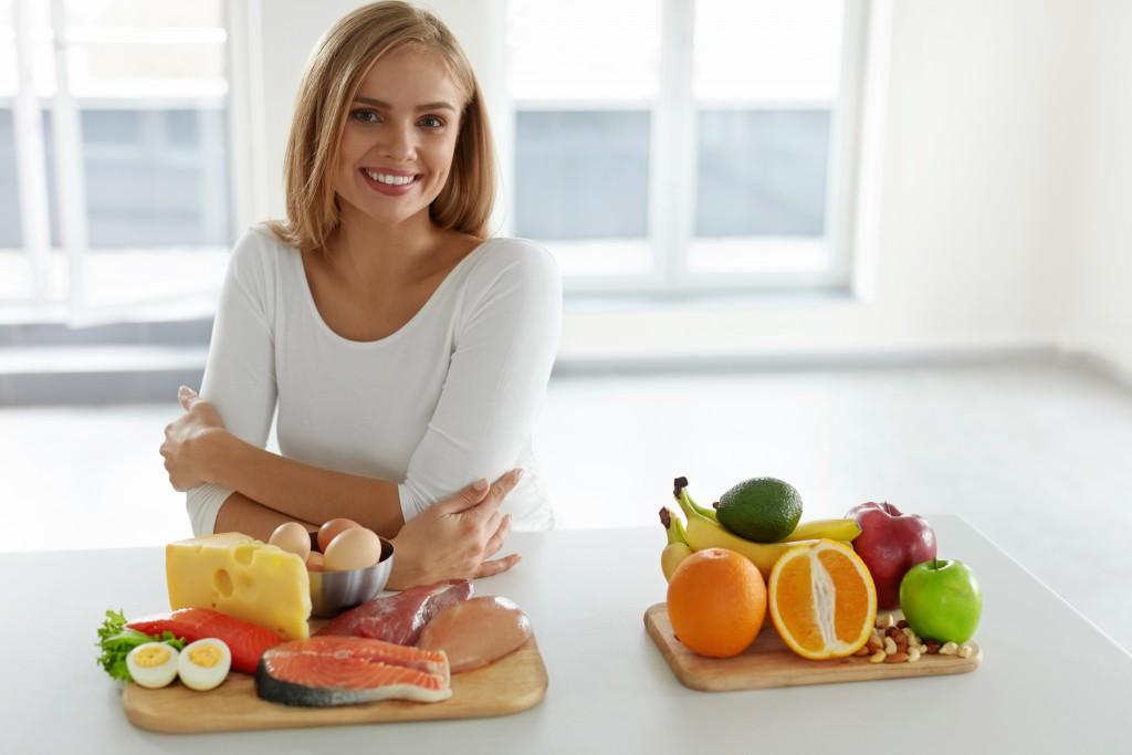 woman watching her diet