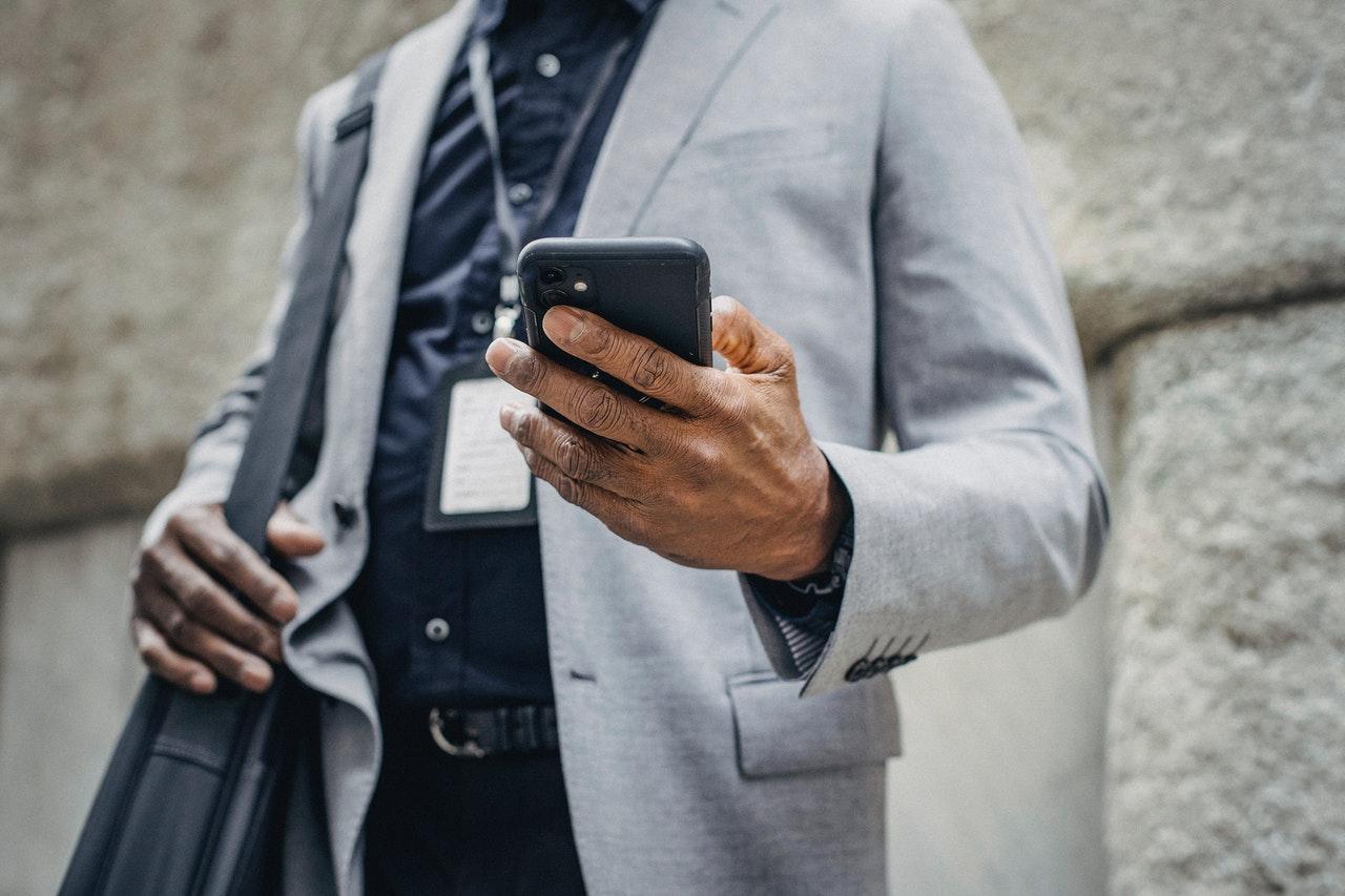 man using a phone