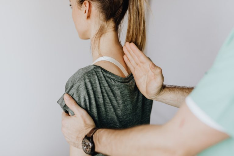 person spine correcting